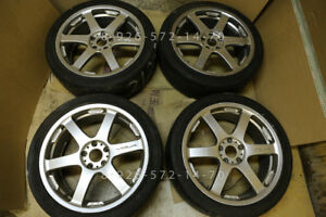 19 Rays Progressiv Te 2 Genuine Jdm Tags Volk Te37 Forged Volks