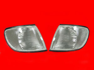Depo Euro Clear Corner Signal Lights Lamps Fit For 1995 1997 Audi A6 C4 Chassis