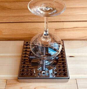 Rinser For Beer Glass Or Coffee Pitcher With Drip Tray Full Stainless Steel