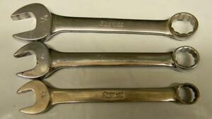 Snap On 3pc Sae Short 12pt Combination Wrenches