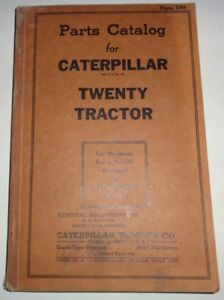 Caterpillar Twenty 20 Crawler Tractor Parts Catalog Manual Book Cat Original