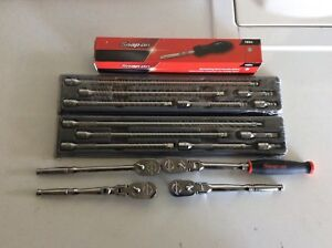New Snap On Tools 1 4 Drive Ratchets Extensions Ratcheting Driver Lot Set Bundle