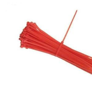 Red 4 Self locking Nylon Wire Cable Zip Ties Cable Ties Hot Tie Wrap Usa Seller