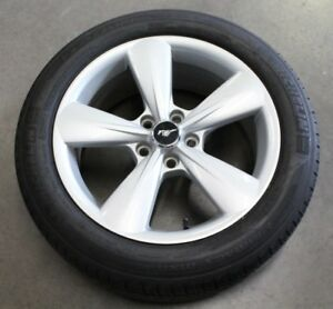 2013 2014 Ford Mustang 5 0 Gt Coyote Silver Wheel Rim Tire 18x8 235 50 18 Oem