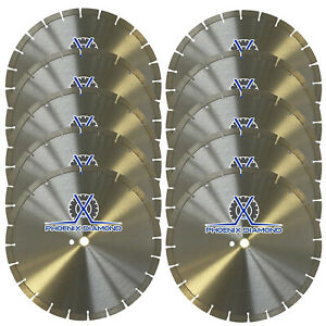 New 10pk 14 Segmented Diamond Saw Blade For Concrete Masonry Free Shipping