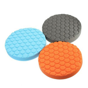 3x Flat Car Polishing Foam Buffing Sponge Pad Kit Car Polisher Buffer3 4 5 6 7 2