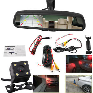 Car Rearview Mirror 4 3 Lcd Auto Dimming Monitor Rear View Camera With Bracket