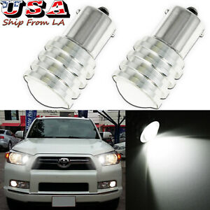 2x Super White 1156 Ba15s High Power Projector Led Drl Daytime Driving Lights