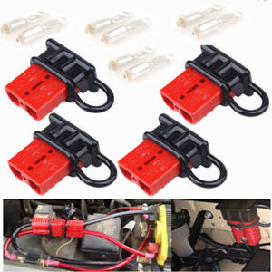 4x Auto Car Truck Trailer Battery Quick Connectors 50amp 6awg Winch Connect Plug