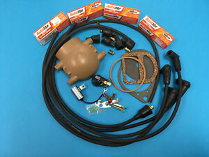 Ford 2n 9n 8n Tractor Master Ignition Tune Up Kit Plugs Points Condenser Rotor