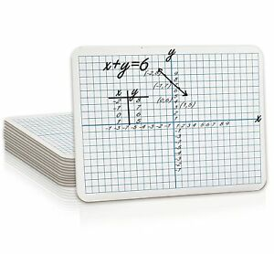 12 Pack Dry Erase Xy Axis Lap Board 9 x12 Interactive Learning Coordinate Grid