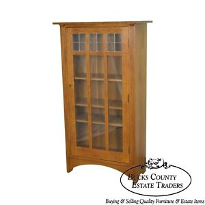 Stickley Mission Oak Collection Single Door Bookcase A