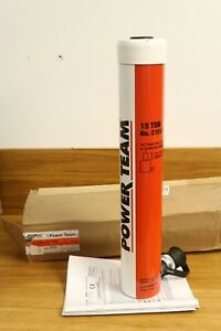 New Spx Power Team 15 Ton 12 Stroke Single Acting Hydraulic Cylinder usa Made