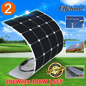 2x 100w 18v Elfeland A class Sunpower Semi flexible Solar Panel For Boat Home