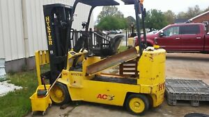 12 000lb Hyster Electric Forklift No Battery make Offer Needs 2 Go 2008 Model