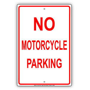 No Motorcycle Parking Wall Art Decor Novelty Notice Aluminum Metal Sign