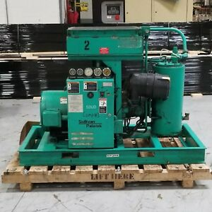 Used Sullivan Palatek 50 Hp Rotary Screw Air Compressor Low Hours 230 480 Volt