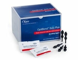 Kerr Optibond Solo Plus Bonding Agent Refill Unidose Box 100 Mfg 29669