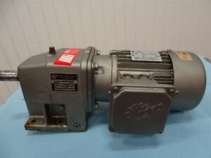 Nord Sk 71l 4 Gear Motor 1 2hp 3ph 1720rpm 1 shaft W Nord Reducer Ratio25 92