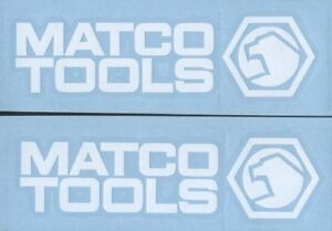 2 Matco Tools White 6 Decals For Toolbox Truck Windows Or Wherever
