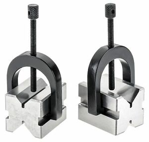 A One Precision v Block Set 1 3 8 X 1 1 2 x1 3 4 V Block Clamp Double Sided