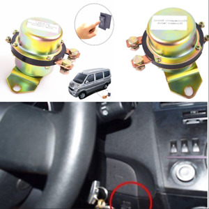 Car Battery Switch Electromagnetic Disconnect Master Kill Dash Button Anti theft