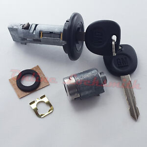 Ignition Switch Cylinder And Door Lock Set For Chevrolet Gmc Trucks W Gm Keys