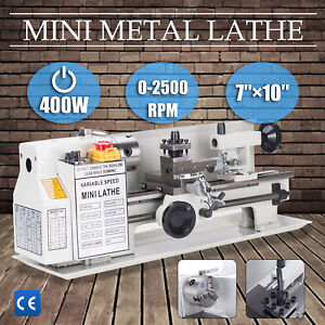 400w 7 X 10 Lathe Machine Diy Tool Mini Lathe Drilling Model Maker Hot Sale