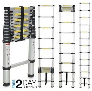 Folding 12 5 Ft Multi purpose Aluminum Telescopic Ladder En131 Extension Steps