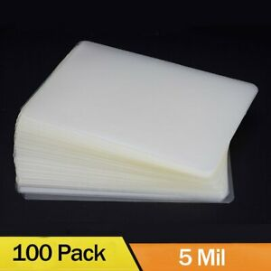100 5 Mil Thermal Laminator Laminating Pouches Letter Size Clear 9 x11 5 Sheets