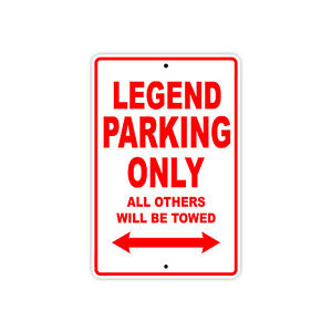 Legend Parking Only Towed Wall Art Decor Novelty Notice Aluminum Metal Sign