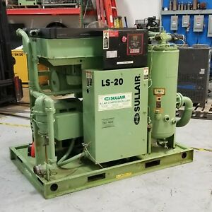 Used Sullair Ls 20 100 Hp Rotary Screw Air Compressor Very Clean