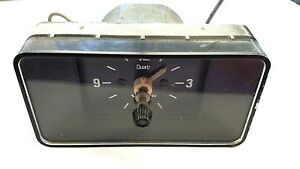 Vintage Volvo Vdo Quartz Lighted Clock Made In Germany 218 21 1 Or 1214918