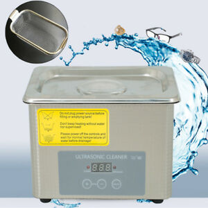 0 8l Industrial Ultrasonic Cleaner Jewelry Dental Cleaning Machine 35w 40khz