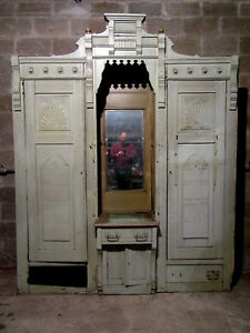 Antique Carved Walnut Closet Front Built In Armoire 84 X 104 Salvage
