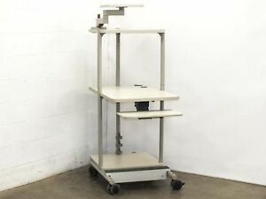 Mobile Computer Server Bench Table Station 37 X 25 X 66