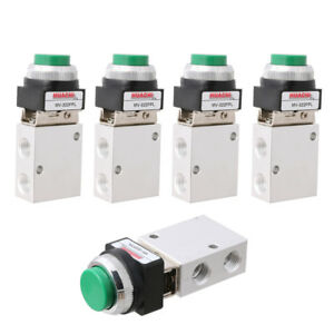 5pcs Msv 98322ppl 3 Way 2 Position Pneumatic Valve Pt 1 4 Push Button Actuator