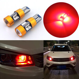 2pcs Red Car Position Parking City Lights T10 168 194 2825 W5w 19 Smd Led Bulbs