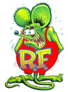 Rat Fink Decal 6 Free Shipping