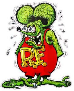 Rat Fink Version 2 Decal 5 X 4 Free Shipping