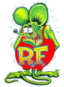 Rat Fink X Large Decal 24 X 14 Free Shipping