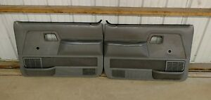 Ford Ranger Door Panels Grey Non Power Both L R Oem 1989