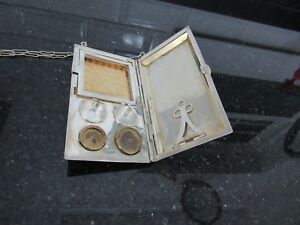 Antique Fp Sterling Money Holder Coins Card Case With Notebook