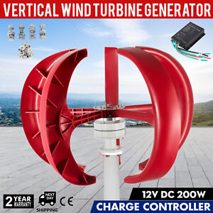 200w 12v Lanterns Wind Turbine Generator Home Power Usstock Vertical Axis