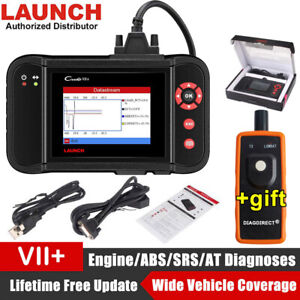 Launch X431 Creader Vii Obd2 Diagnostic Tool Engine Transmission Abs Srs Crp123