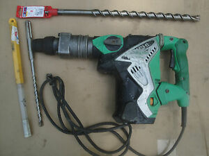 Hitachi Sds max Rotary Hammer Drill dw 40mry Two New Bits