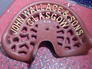 Reduced Rare John Wallace Vintage Cast Iron Tractor Implement Seat Farm