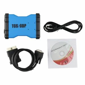 Tcs cdp Bluetooth Obdii Blue Diagnostic Scanner Tool Cars Trucks For Win7 xp
