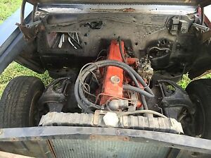 Complete Engine Inline 6 Cyl With 3spd Manual Trans Hot Rod Rat Rod Project