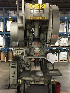 45 Ton South Bend Johnson Open Back Stamping Press